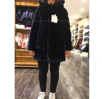 "New☆MONCLER""BUTOR""ベルベットダウンNavy 12A 大人OK【関税込】"