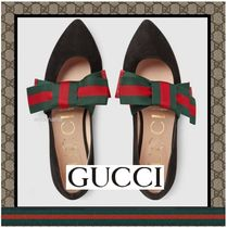 【入手困難!】Gucci Suede ballet flat with Web bow
