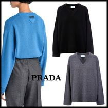 【関送込】NEW◆VIP価格◆PRADA◆Wool and cashmere pullover