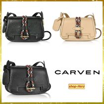 ★CARVEN★ Smooth Twin レザーショルダーバッグ