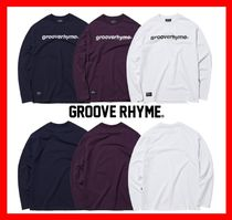 GROOVE RHYME(グルーヴライム) Tシャツ・カットソー 【GROOVE RHYME】☆LOGO PRINT LONG SLEEVE T-SHIRTS OVER FIT☆