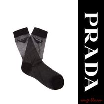 【国内発送】PRADA Logo cotton-blend socks