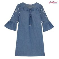 18FW新作☆Cath Kidston EMBROIDERED CHAMBRAY DRESS