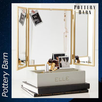 Pottery Barn Elle Lacquer Beauty 化粧台 ケース 収納 ミラー