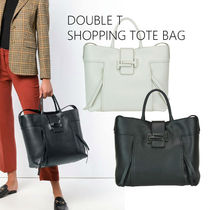 TOD'S(トッズ) トートバッグ 18-19新★Tod's Double T Shopping Bag L 関税/送料込