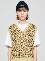 18AWコレクション☆LEOPARD KNIT VEST HA [LEOPARD]
