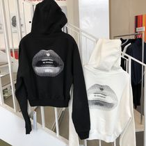 【Off-White】18/19AW新作 HOODIE WITH LIPS (BLACK & WHITE)