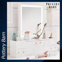Pottery Barn Light Up Beauty Storage Mirror ミラー 鏡