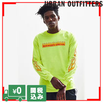 Urban Outfitters  ファイヤーグラフィック 袖プリ L/S  Tシャツ