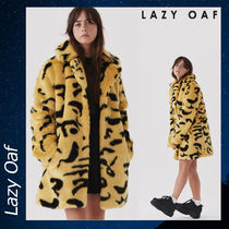 LAZY OAF Yellow Leopard アウター コート ヒョウ柄 イエロー