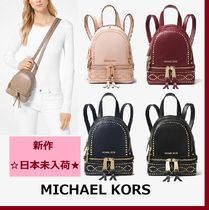 ◆MK◆Rhea Mini Studded Leather Backpack