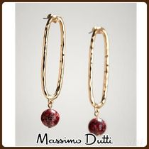 MassimoDutti♪OVAL HOOP AND SPHERE EARRINGS