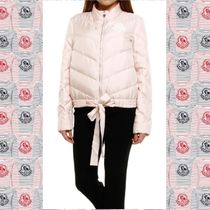 MONCLER GAMME ROUGE Pirouetteピンクリボンシルクダウンジャケ