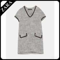 ★ZARA★ザラ  TWEED DRESS WITH TRIMS