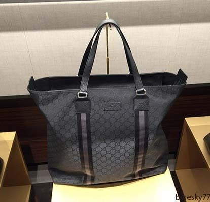 more photos 7d149 59592 すぐ届く!グッチ(GUCCI)ナイロン×レザートートバッグ A4収納