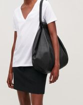 COS folded leather tote bag