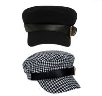 leather buckle newsboy cap (2 type)ニュースボーイキャップ