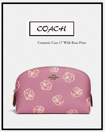 Coach メイクポーチ 国内完売★NY発送 cosmetic case 17 with rose print
