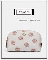 Coach(コーチ) メイクポーチ 国内完売★NY発送 Coach cosmetic case 17 with rose print
