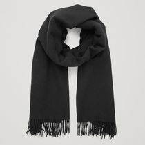 COS☆WOOL-CASHMERE SCARF / black