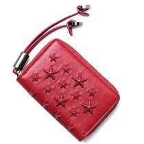 JIMMY CHOO コインケース nellie-enl-red-red