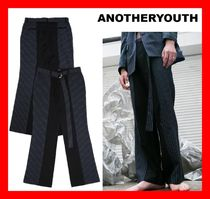 韓国の人気★【ANOTHERYOUTH】日本未入荷★Half Stripe Slacks★
