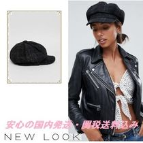 New Look Check Bakerboy Hat♪