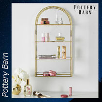 Pottery Barn Gold Arched Curio Wall キャビネット 収納 ケース