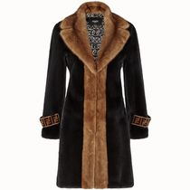 FE2228 COLOR-BLOCK MINK FUR COAT