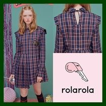 日本未入荷!【rolarola】CHECK PLEATS ONE-PIECE  (NAVY)