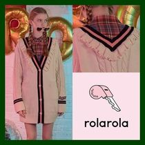 日本未入荷!【rolarola】V NECK FRILL CARDIGAN  (CREAM)