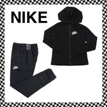 NIKE★新作 キッズ ロゴ ジャージ上下 セット 黒
