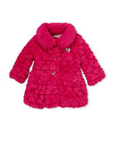JUICY COUTURE(ジューシークチュール) キッズアウター ふわもこコート★JUICY COUTURE★フェイクファーホットピンク