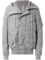 DRKSHDW by RICK OWENS HOODED BOMBER SHORT ブルゾン グレー