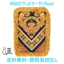 【VERSACE】iPhoneXケース プリント 注目度大【送料・関税込み】
