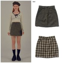 日本未入荷SCULPTORの18AW CHECK MINI SKIRT 全2色