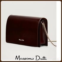 MassimoDutti♪PLAIN LEATHER HANDBAG