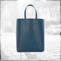 CELINE★Small AW18 Cabas Leather Tote Bag