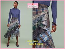 完売必須☆最安保証【Anthro】Byron Lars Patchwork Plaid Skirt