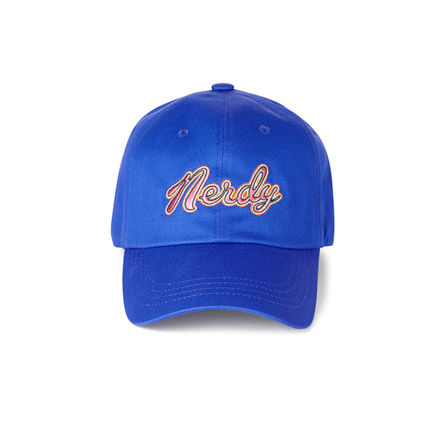NERDY★Washed Multi Color Embroidery Ball Cap★人気★BLUE