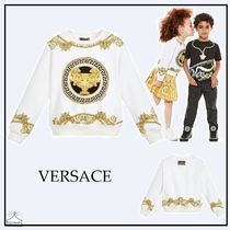 YOUNG VERSACE☆大人もOK  GREEK FRETスウェット white 7-14Y