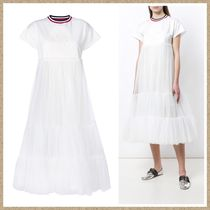 SALE【MONCLER GAMME ROUGE】チュール ワンピース WHITE