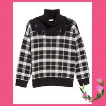 Kate Spade★plaid fringe turtleneck☆セール