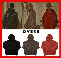 OVERR(オベルー) パーカー・フーディ 韓国の人気☆【OVERR】☆18FW CIRCLE BS PIPING HOODIE☆3色☆