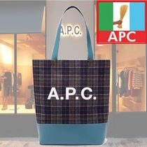 【18AW】★A.P.C.★Axelle checked felt tote bag