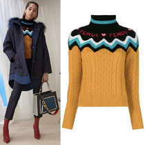 FE2259 LOOK31 WOOL CASHMERE CABLE KNIT SWEATER