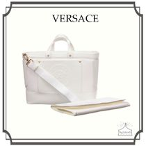 YOUNG VERSACE☆ホワイト Large Baby マザーズバッグ (40cm)