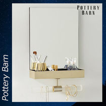 Pottery Barn Ava Frosted Acrylic ジュエリー ケース ミラー