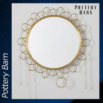 Pottery Barn Gold Wire Jewelry Storage Mirror ミラー 鏡