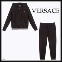 VERSACE☆KIDS GREEK FRETコットントラックスーツ black 4-6Y